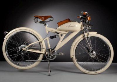 Agnelli milano bici - bicicletta vintage - motore elettrico - design italiano